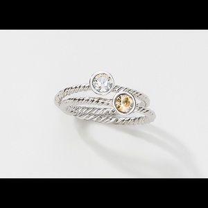 Touchstone by Swarovski Trinket Rings Size 6.5